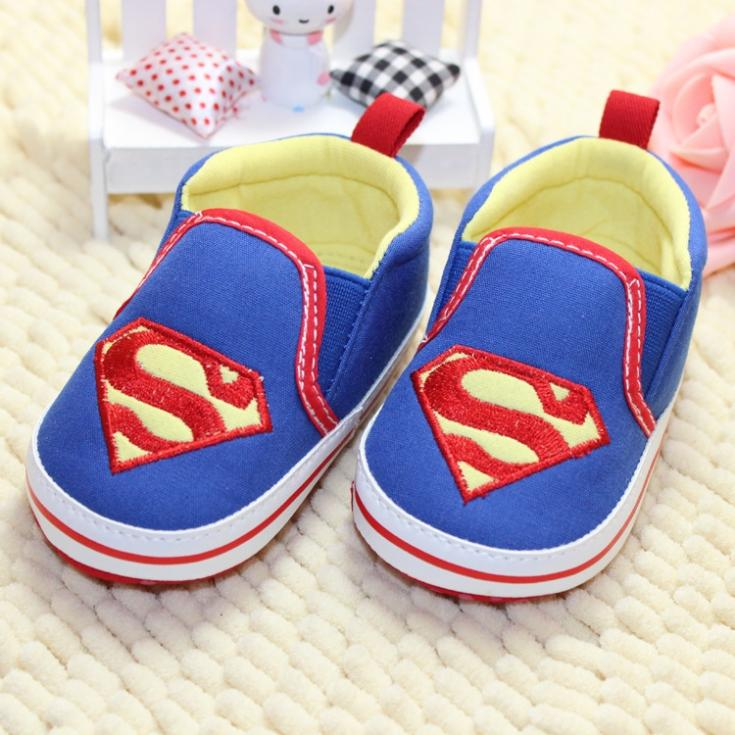 New hot Baby Toddler Boy Kids Superman Canvas Crib Casual Shoes PreWalker Sneaker Comfy free shipping