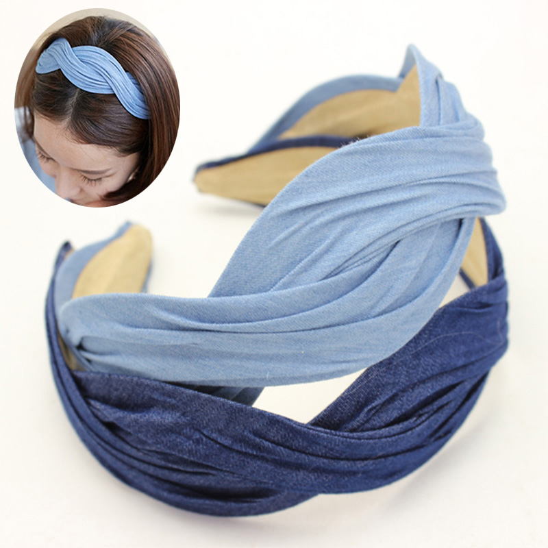 Wholesale12pcs New Fashion Braid Headband Women's Twisted Wave Hairband  Elegent Ladies Hair Accessories Assorted Colors