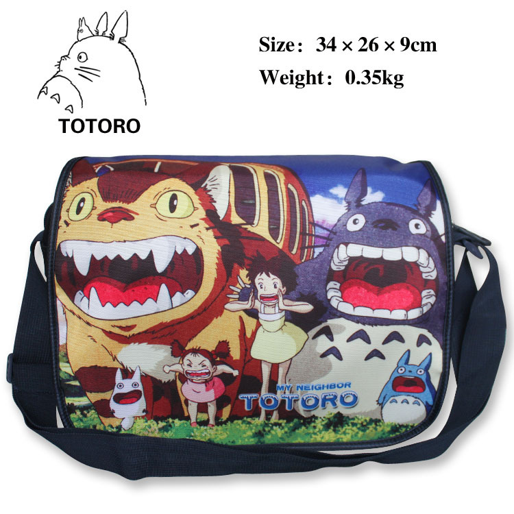 My neighbour Totoro polyester shoulder bag with colorful anime figures printings(China (Mainland))
