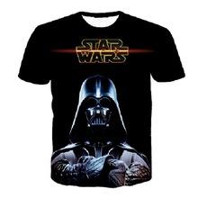Hombres de Star Wars en 3D de la camiseta la fuerza despierta Tee Shirt Darth Vader Tops