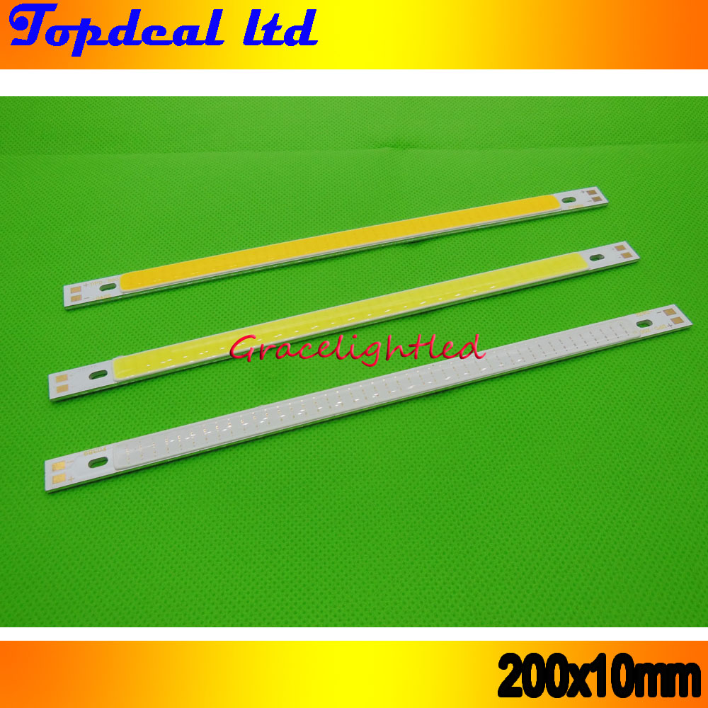super bright 200*10mm COB LED Light Strip 10W CRI 12V diode strip for Warm white /white blue DIY lighting project 10pcs/lot(China (Mainland))