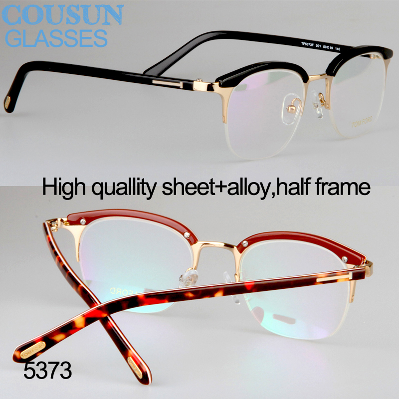 trendsetter vintage half frame myopia eyebrow eyeglasses