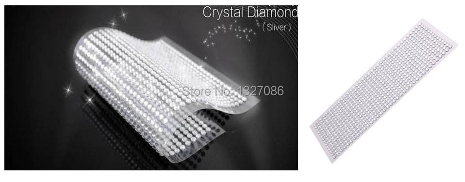 990pcs 4mm Rhinestones Self Adhesive Diamantes Stick On Crystals Beads Nail Art Car SILVER(China (Mainland))