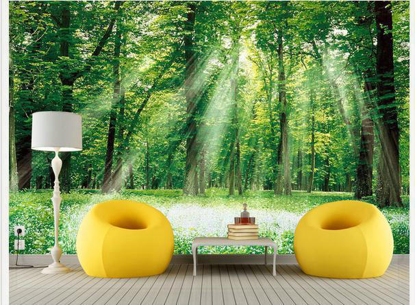Wallpaper Green forest landscape sofa backdrop mural wallpaper mural wall paper papel de parede wall stickers wallpaper20151009(China (Mainland))
