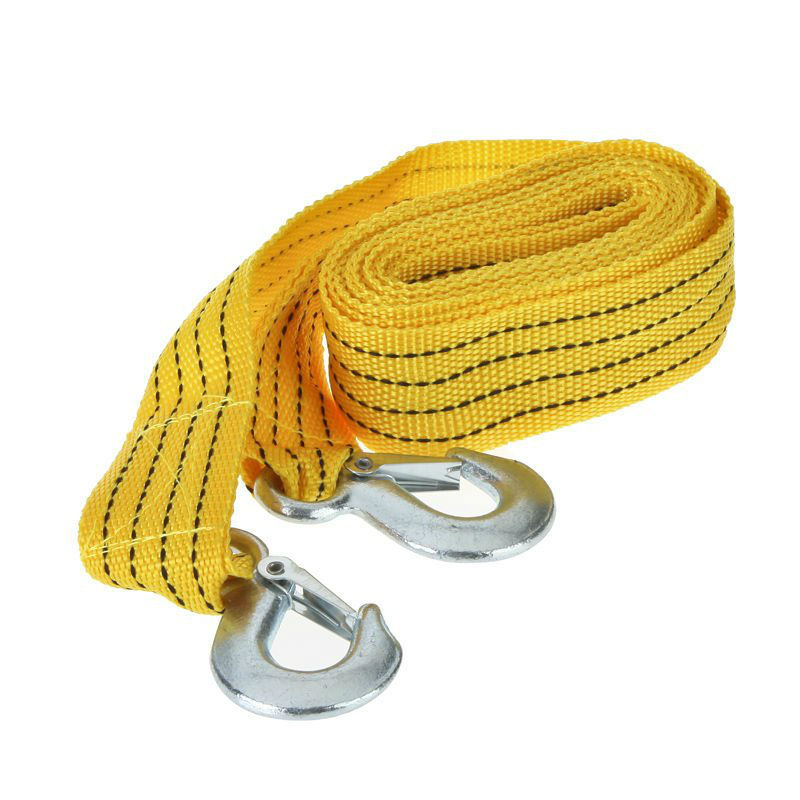 3 Tons Tow Cable Towing Rope with Hooks for Heavy Duty Car Emergency Tow Strap(China (Mainland))
