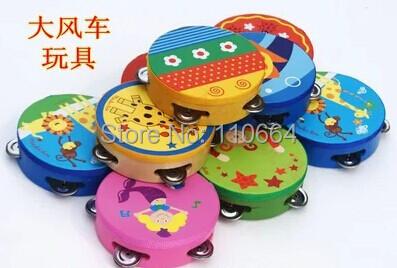 9905 export grade wooden tambourine toy child musical instruments child rattle drum hand drum(China (Mainland))