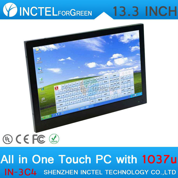 Cheap 13.3 Inch 4G RAM 32G SSD Desktop All in One PC Touchscreen with Resolution of 1280 * 800 for HTPC(China (Mainland))