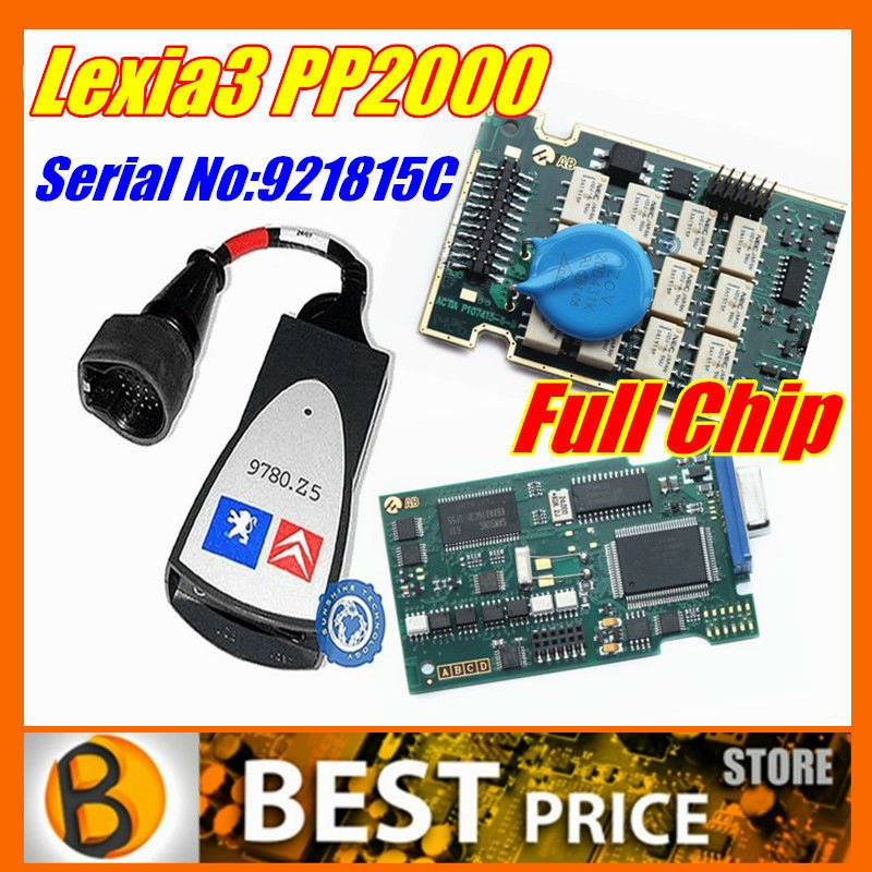 Lexia 3 Full Chip Diagbox V7.61 For Citroen Peugeot lexia3 V48 pp2000 V25 Firmware Serial No. 921815C Lexia-3 diagnostic tool(China (Mainland))
