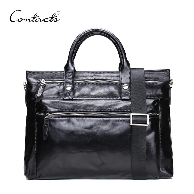 Oil Wax Leather Bag Fashion Men Handbags Cowhide Genuine Leather Crossbody Bag Men's Travel Bags Laptop Briefcase Bag for Man(China (Mainland))