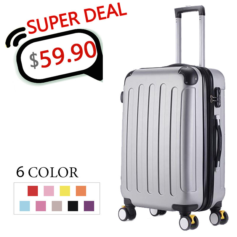 20,24,28 Inch,Spinner wheel,ABS,Travel Suitcase,Trolley Case,Hardside Luggage,Trolley Suitcase,Rolling Luggage,CA001(China (Mainland))