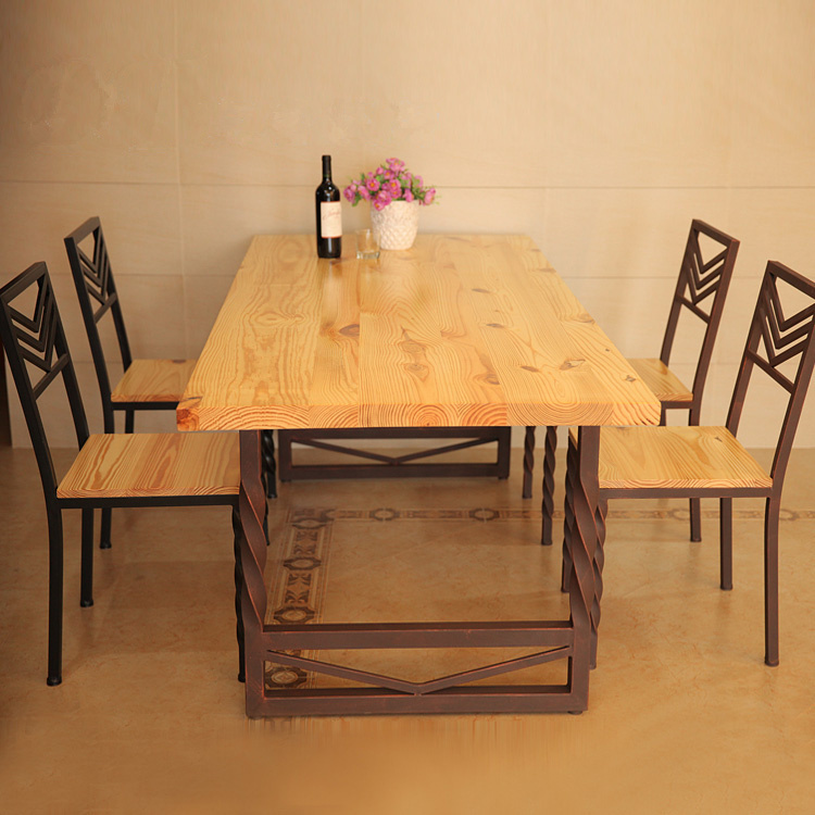 European custom solid wood dining table to do the old - Mesas y sillas de forja ...