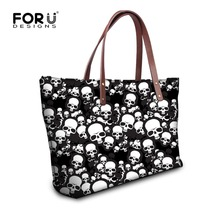 Buy FORUDESIGNS Skull Design Woman Handbags Ladies Tote Bags Causal Shoulder Bag Cool Punk Style Large Shopping Bag Bolsos Mujer for $23.99 in AliExpress store