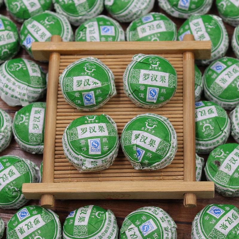 Momordica grosvenori Shu Puer Tea Xiao Tuo Mini Ripe Pu er Chinese Puerh Slimming Tea