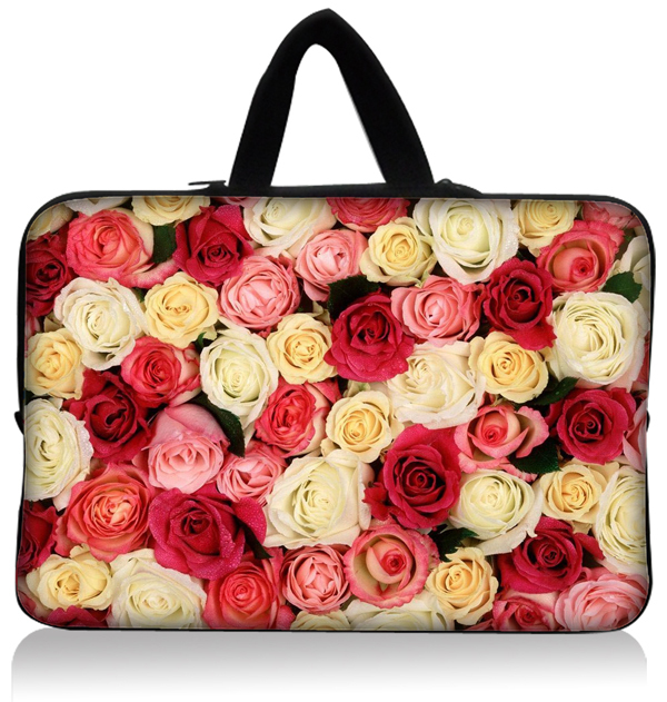Colorful Rose World Laptop Sleeve Bag Carrying Case Pouch For 11.6 12 12.5 Inch HP Dell Asus Samsung Netbook PC Free Shipping(China (Mainland))