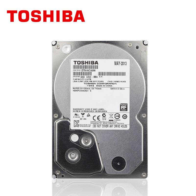 "TOSHIBA Enterprise Grade 2TB Hard Drive disk 2T 2000GB Internal HDD HD 7200RPM 64M SATA3 3.5"" for Desktop Server Computer PC(China (Mainland))"