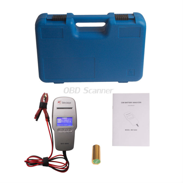 MST-8000 Digital Car Battery Tester With Printer 12V Battery Load Tester MST 8000 MST8000 Digital Battery Analyzer DHL Shipping(China (Mainland))