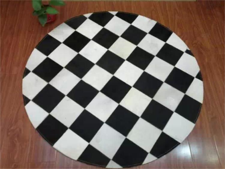 1 piece 100% natural cow leather patch rug