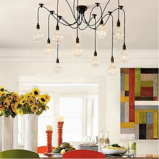 NEW [free shipping]10 Lights bulbs Edison Chandelier Lighting big pendant light<br><br>Aliexpress