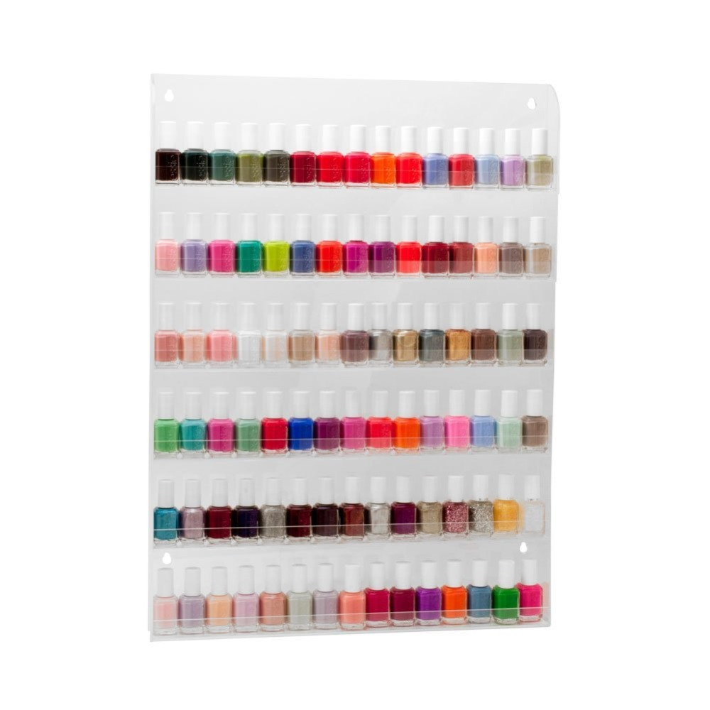 Makartt Nail Rack Clear 90 Bottles Polish Organizer 6 Layers Shelf Storage Varnish Wall Display Art Tools F0205 - Proto & Beauty Products s store