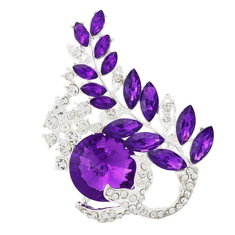 Free shipping New cheap fashion jewerlry women's cryatal brooch shiny rhinestone brooch flower brooch wedding/parties wholesale(China (Mainland))