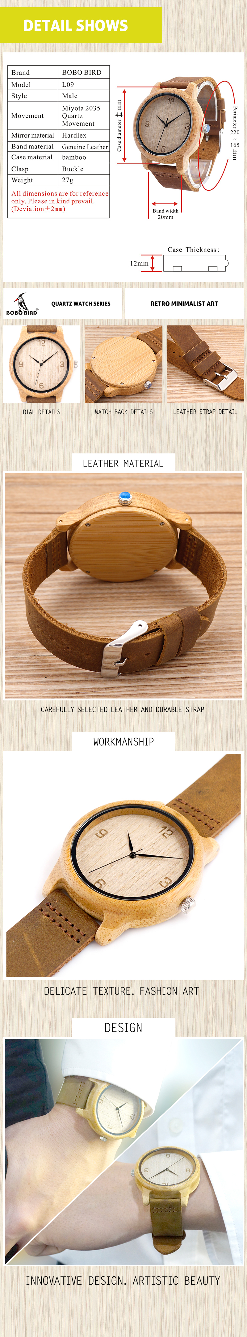 fashion wooden watch C11,.L09
