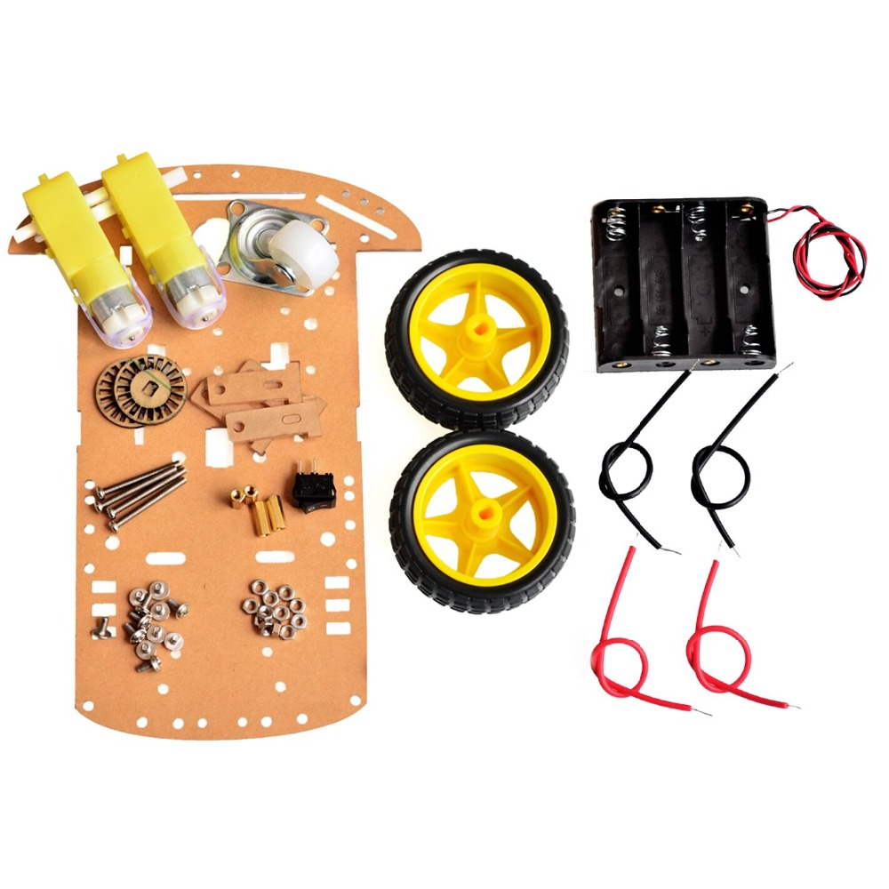 New Motor Smart Robot Car Chassis Kit Speed Encoder Battery Box 2WD Arduino Free