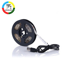 Buy Coversage USB 5050 Led Strip DC 5V 30Leds/M TV Background RGB Waterproof Flexible Light Home Decoration Lamp Flat Screen LCD for $7.15 in AliExpress store