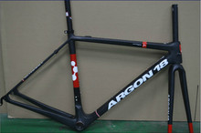 argon18 hot sell carbon newest BORAman carbon argon 18 road bike frame +seat post+fork+headset+clamp,free shipping(China (Mainland))