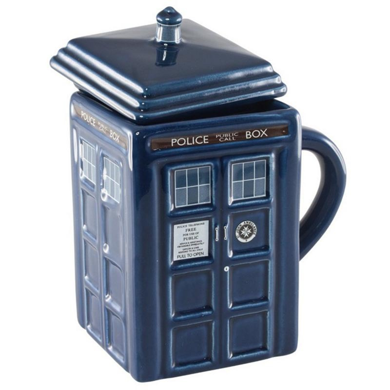 Cool Doctor Who Gifts Merchandise 17Oz Tardis Ceramic Ceramic Coffee Cups And Mugs Cartoon Canecas Cartoon Memorabilia Porcelain(China (Mainland))