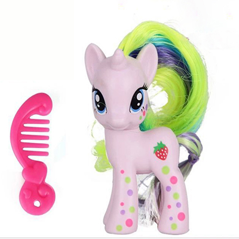 8cm MLP Kawaii my cute lovely Anime Little Horse Poni Pvc Action Figure toy Doll figurines Collectible Toys for kids child gifts