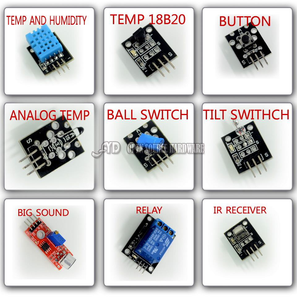 37 in 1 Sensor Module Kit  For Arduino UNO R3 Mega2560 Mega328 Nano