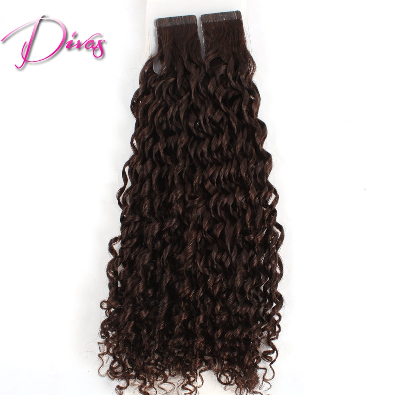 Glue In Extensions Curly Hair Remy Indian Hair