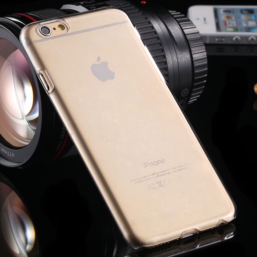 Super Slim Crystal Clear Hard Plastic PC Case Covers For iPhone 6 6S 4 7 font