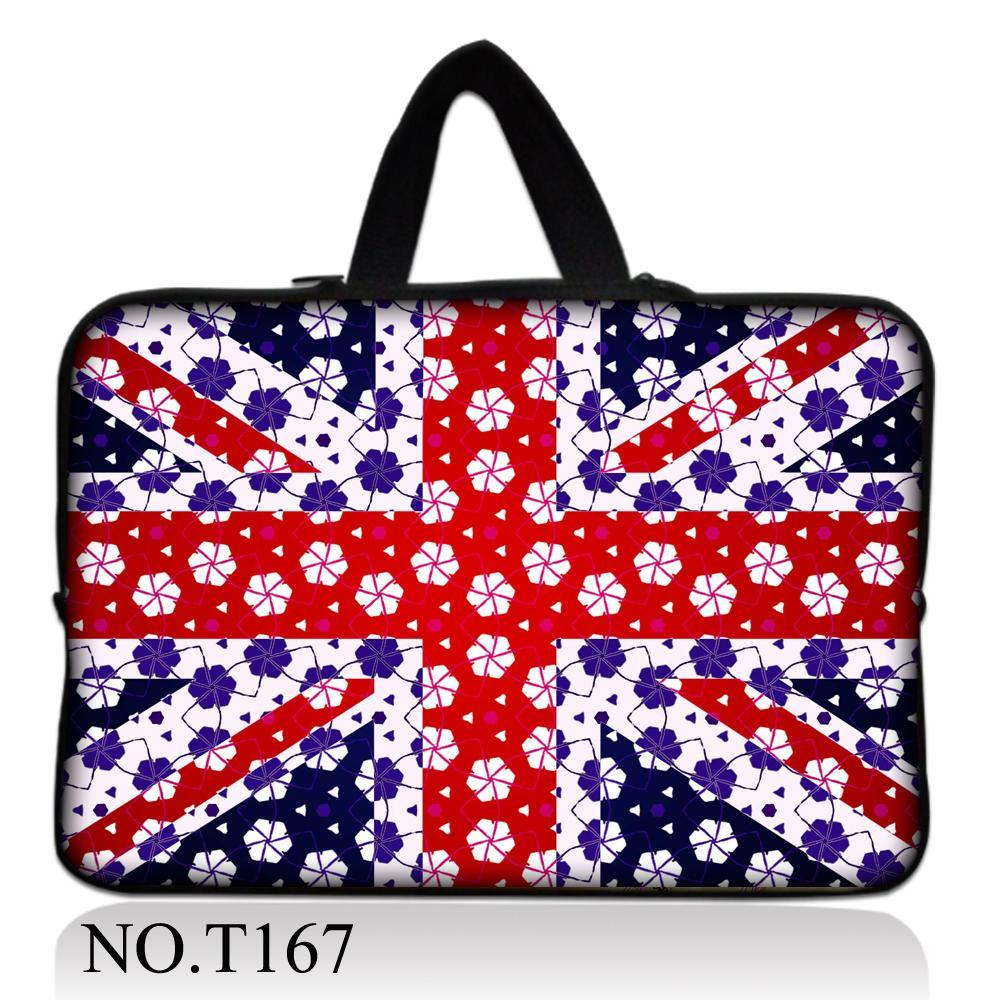 Snow Union Jack Tablet bag For macbook air NEW 10 10.1 11.6 12 13 13.3 14 15 15.6 17 Inch Notebook Case Laptop Sleeve Bag Case(China (Mainland))