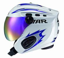 Free Shipping New Top Quality STAR  fashion ski helmet with Mirror skiing and snowboarding brand helmet with ABS Shell 3 colors(China (Mainland))