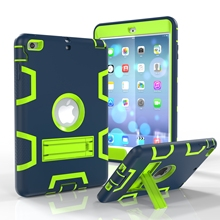 Full Body Protect Case for Apple iPad Mini 3/2/1 Luxury Armor Shockproof Heavy Duty Silicone Hard Cover+Screen Protector+Pen(China (Mainland))