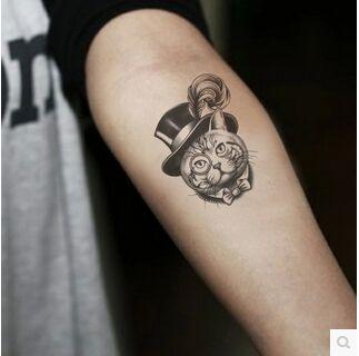 gentleman de chat tatouage p te simulation tatouages tanche personnage tatouage hommes et. Black Bedroom Furniture Sets. Home Design Ideas