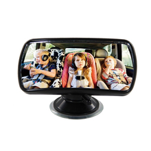 TS15 Convex Clear View Mirror 360 Degree Rotation Sucker Lock Car Interior Accessories Auxiliary Mirror Baby Kid Safety Care(China (Mainland))