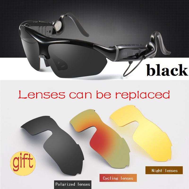 2016 New Arrival Smart Bluetooth Glasses Sports Sunglasses Stereo Earphone Heads