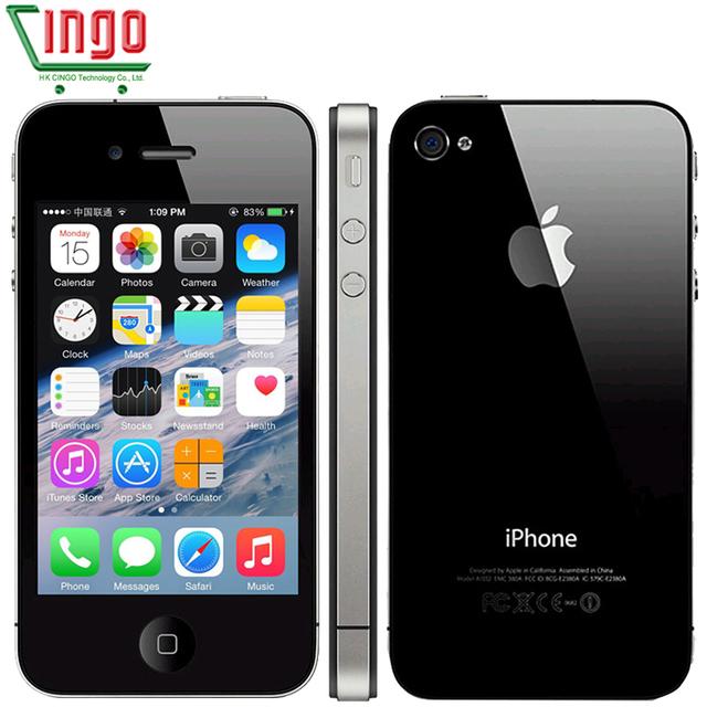 100% Оригинальный iPhone 4 Apple 4 Завод/Программное Обеспечение Разблокирована 16/32 GB Сотовый телефон 3.5 дюймов Сенсорный Экран GPS WIFI 5MP DROP ДОСТАВКА