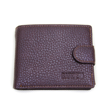Hot sale fashion new top men leather wallets Classic design quality trade bifold card holders purse