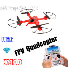 2016 MJX X400 RC Quadcopter can add C4005 FPV Camera Wifi Real Time, Headless Mode Entry Auto-Return UFO Drone (Red)