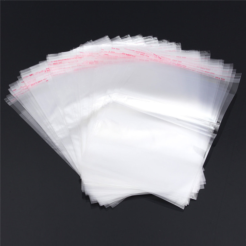 100PCS E4 Clear Resealable Cellophane/BOPP/Poly Bags 20x25cm Transparent Opp Bag Packing Plastic Bags Self Adhesive High Quality(China (Mainland))