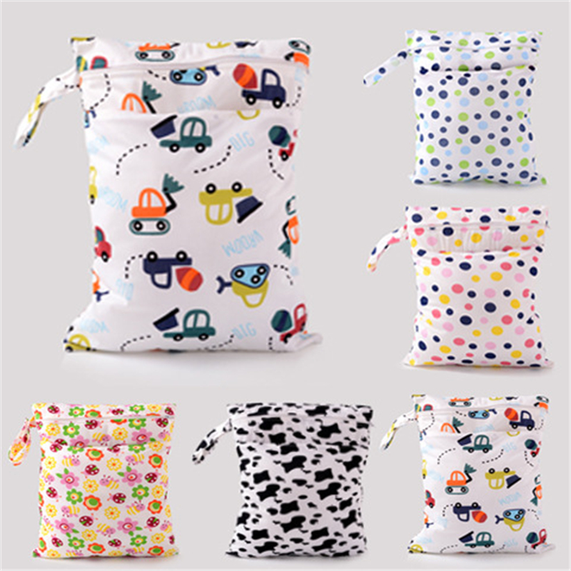 Baby Diaper Bags Character Print Changing Wet MUM Bag Baby Cloth Diapers Tote bag 30x40cm Baby Swim Diaper Nappy Bag(China (Mainland))