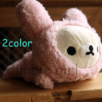 1pcs,Kawaii Cute Office & School Supplies For Girl Kids,rabbit animal shape bear plush rilakkuma pen bag pencil case long design