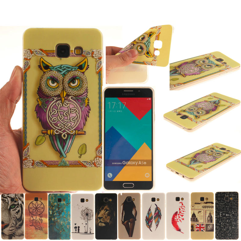 Soft TPU Cell Phone Case Cover For Samsung Galaxy A5 (2016) A510 A510F Back Protective Bags Skin(China (Mainland))