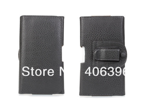 1Pcs Waist Clip Litchi Grain Leather Case for Samsung Galaxy Note 3 N9000(China (Mainland))