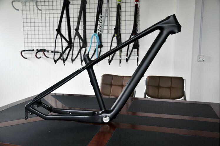 "Free shipping MTB bicycle 3k carbon frame+seat post+clamp+headset 27.5er 15.5""17"" 1260G without logo Mountain bike carbon frame(China (Mainland))"