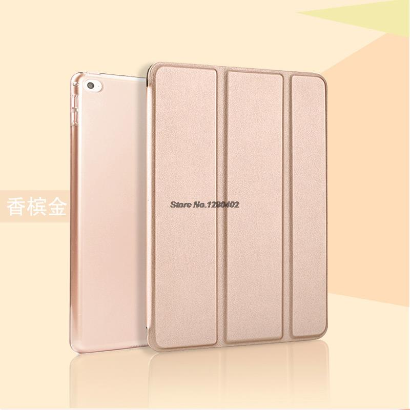 Soft Silicone &amp; leather case for iPad air2 luxury leather cove for ipad 6 Air 2 Stand smart automatic wake-sleep case for ipad-6<br><br>Aliexpress