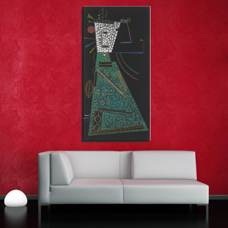 Graffiti IN HEIGHT Cartoon Abstract Wassily Kandinsky Unframed Oil Painting Frameless Canvas Spray design on the wall art(China (Mainland))